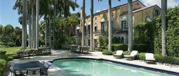 USA Miami Beach Majestic Villa endowed with fine marble stone floors